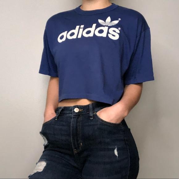 Top T Vintage Adidas Shirt Crop XTiwPkZOu